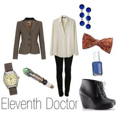 Eleveth Doctor from Doctor Who. I would get a regular red bow tie though.
