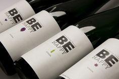BE HAPPY | individuelle, personalisierte Weinetiketten von Frau Z. und der schöne Wein zu Taufe, Geburtstag oder jeden anderen Anlass auf DaWanda.com   #taninotanino #vinosmaximum