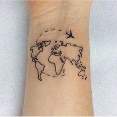 cool tattoo ideas. travel tattoos. map