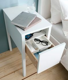 bedside table with handy storage (NORDLI Ikea)