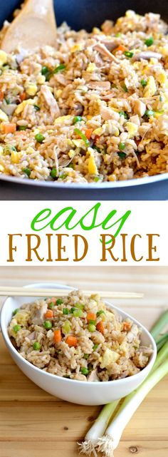If you're looking for a nutritious, simple dinner that the whole family will enjoy, this easy fried rice recipe is for you! You can make it with chicken, pork or shrimp, and swap in/out different vegetables depending on what you like