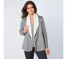 Sako z 3 materiálov Blazer, Jackets, Women, Fashion, Ska, Down Jackets, Moda, Fashion Styles, Blazers