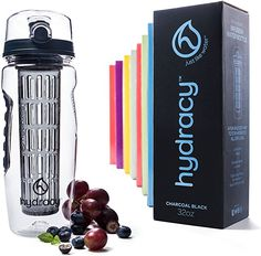 Green Canteen Tritan Copolyester Hydration Bottle with Fruit Infuser Blue 32 oz