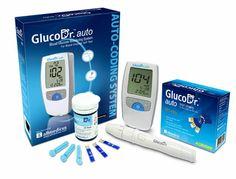 GLuco-Dr Auto AGM-4000   Rentang test kadar gula darah paling luas: 10-900 mg/dL  Dengan teknologi Auto Coding: Tidak perlu pengkodean manual  Hanya memerlukan sedikit darah: 0.5µL  Waktu pengukuran hanya 5 detik   Tombol pelepas strip otomatis  Kapasitas memory 500 memori untuk 5 pasien  Data transfer bisa melalui USB  Bateri tahan lama hingga 1000 pengukuran  Bateri: 1 Lithium CR 2032, DC3V  Ukuran 49.0 x 93.5 x 17.5 mm  Display 37.0 x 42.0 mm LCD  Berat 40gr