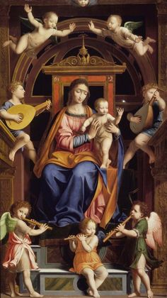 Bernardino Luini Brooklyn Museum: European Art: Madonna and Child Enthroned with Angels