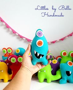 Adopt a monster party favors Felties Birthday Supplies