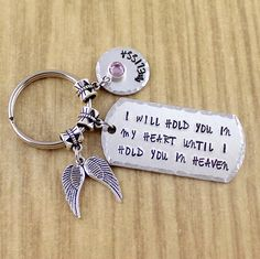 Personalized Daughter Memorial KeychainIn Loving Memory of
