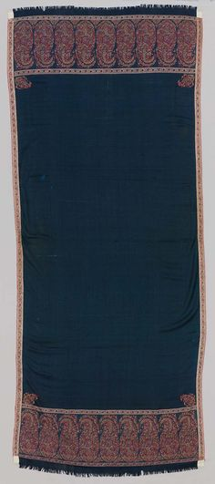 1815, Asia - Shawl - Cashmere twill tapestry