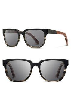 Shwood 'Prescott' 52mm Titanium & Wood Sunglasses available at #Nordstrom