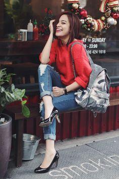 Hoàng Thùy Linh ghi điểm phong cách nhờ street style đẹp chuẩn - ảnh 5
