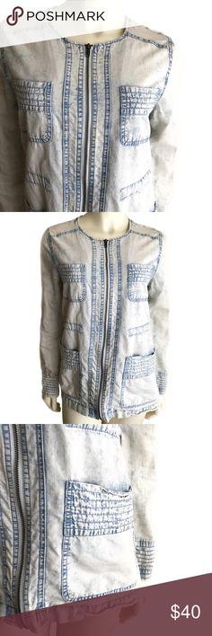 BB D a k o t a •. C h a m b r a y • J a c k e t •S Jack by BB Dakota washed out chambray jacket Sz S Jack by BB Dakota Jackets & Coats