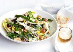 Poached chicken, green bean and basil mayonnaise salad recipe - 9Kitchen