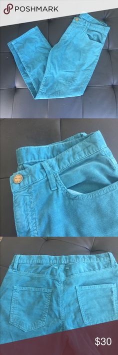 Current/Elliott teal corduroy boyfriend pants 👖 New w/ out tags Current/Elliott Pants