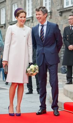 With her husband, Prince Frederick, by her side, the princess entered parliament looking regal and glamorous.