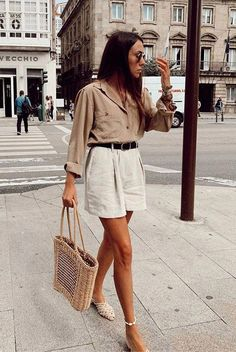 Spring Outfit Women, Spring Outfits, Beach Outfits, Vacation Outfits, Outfit Summer, Date Outfits, Short Outfits, Casual Outfits, Cute Office Outfits