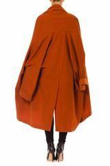 ROMEO GIGLI Orange Riding Hood Cape