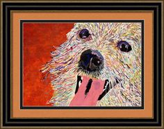 Harley Pup Poster By Debbie Davidsohn with customizable framing, matting, medium choices and finish. Voila!