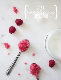 DIY Raspberry Lip Scrub - Nouvelle Daily