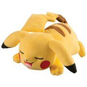 Pokemon XY Pikachu Plush [Laying Down, Closed Eyes, Open Mouth]