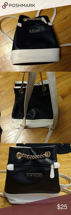 G by guess black and white backpack purse Black and White mini backpack.  Funky style b8d5761ec5536