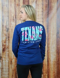 How stinking cute is this new TSU TEXANS rose Comfort Color t-shirt? Keep showing your school spirit while showing off your style. Go Tarleton Texans!