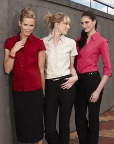 Ladies Cap Sleeve Metro Stretch Shirt - S119LN