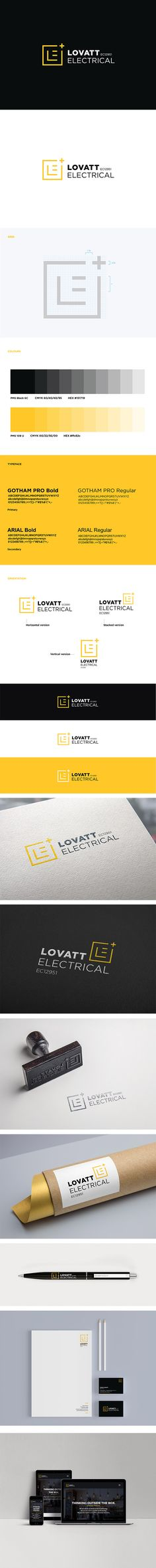 Lovatt Electrical visual identity branding project. Our solution was a very clean and minimal brand identity design, to position Lovatt Electrical as a dynamic & innovative business on the market. The geometric and linear design reinforce the cutting-edge tech electrical expert. The simplicity of the brand application express the efficient and transparent quality workmanship of Lovatt's electricians.