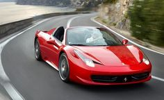 Ferrari 458 Italia! I saw one while driving home tonight! Almost broke my neck as i drove past. hothothothothot.