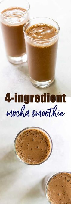 4-Ingredient Banana Mocha Smoothie | Girl Gone Gourmet