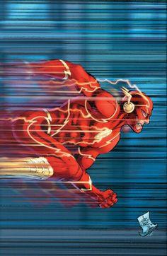 The Flash - Variant cover by John Romita Jr. and Danny Miki Marvel Dc Comics, Comics Anime, Flash Comics, Dc Comics Art, Flash Barry Allen, Comic Book Heroes, Comic Books Art, Dc Heroes, Comic Art