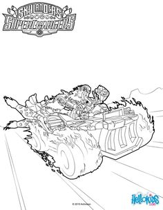 hot streak coloring page from skylanders video games more skylanders content on hellokidscom