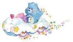 Care Bears: Bedtime Bear in the Cloud Mobile Care Bear Tattoos, Care Bears Vintage, Care Bear Party, Cute Cartoon Characters, Cartoon Tattoos, Dibujos Cute, Rainbow Brite, Old Cartoons, Bear Art