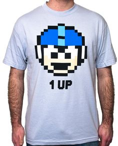 Megaman 1Up Tshirt $16.95 @ www.eurekaonline.net