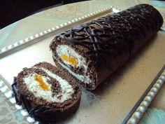 mandarínková roláda- recept: http://adkas-tastyfood.blogspot.sk/2014/06/mandarinkova-rolada.html