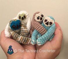 Crochet Amigurumi Baby Finger Sloth Pattern – FREE   The Twisted Crocheter