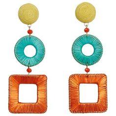Geometric Earrings (€18) ❤ liked on Polyvore featuring jewelry, earrings, orange, mango jewellery, geometric earrings, geometric jewelry, mango jewelry and earring cuff jewelry