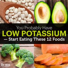 Low Potassium Symptoms & Foods to Help Overcome - Dr. Axe Low Potassium Symptoms, High Potassium Foods, Potassium Supplements, Low Potassium Recipes, Nutrient Rich Foods, Health And Nutrition, Health Foods, Health Tips, Health Benefits