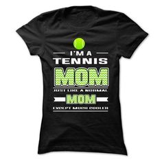 Tennis Mom T Shirts, Hoodies, Sweatshirts. CHECK PRICE ==► https://www.sunfrog.com/Sports/Tennis-Mom-64693482-Ladies.html?41382