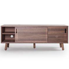 £464 Ray Media Furniture 150cm, Walnut - Department - Department - RoyalDesign.co.uk
