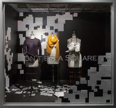 Paper Themed Windows, Visual Merchandising Arts. School of Fashion at Seneca College.
