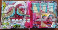 Love Birds Art journal Page with some @Gauche Alchemy goodies.