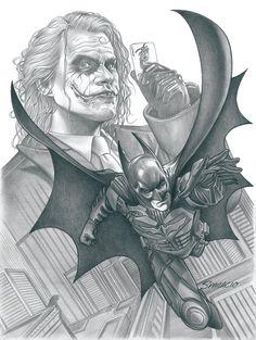 The Dark Knight and The Joker by Mark Sparacio *