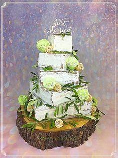 Naked wedding cake - Cake by Cindy Sauvage