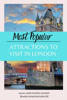 These most popular attractions in London will thrill and surprise you! Grab all the top tips and information you need to plan your exciting trip. #london #londonattractions Tower Of London, London Must See, Things To Do In London, London Bridge Experience, Top Attractions In London, Attraction Tickets, London Architecture, Stadium Tour