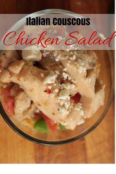 AD: Italian Couscous Chicken Salad #SimpleSatisfyingSalads #EverydayEffortless