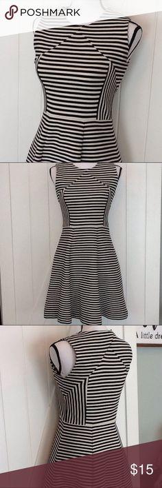 Flirty Joe Fresh striped skater dress Cute, cute, cute! 56% cotton, 42% polyester, 2% spandex; machine wash cold. Used condition with normal wear. Joe Fresh Dresses