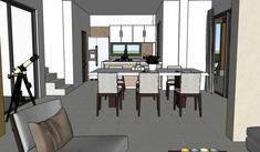 Diseño casa campestre las margaritas Dream House Plans, Divider, House Design, Mirror, Room, Furniture, Home Decor, Pdf, Homes