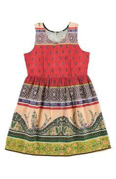 O'Neill 'Brianna' Print Dress (Big Girls) | Nordstrom #girls #fashion #kids #children's #fashion