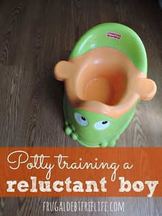 Tips for potty training a reluctant boy. 8 tips that worked for one stubborn boy. #5 was surprising, but it works!
