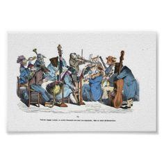 Animal Orchestra Vintage Wall Art - vintage gifts retro ideas cyo
